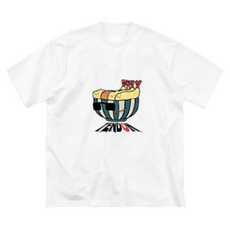 天ドン Big silhouette T-shirts