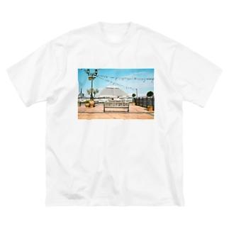 神戸の景色 Big silhouette T-shirts
