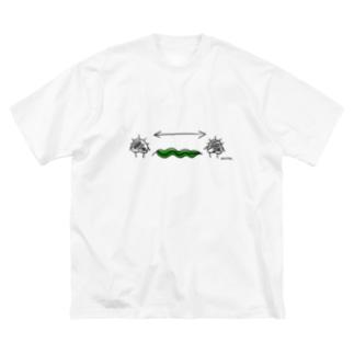 ソーシャルディスタンスウニら Big silhouette T-shirts