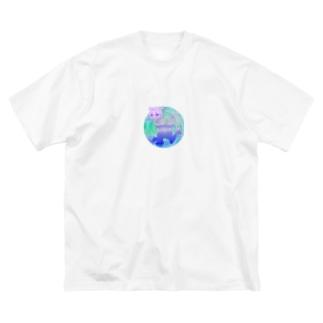 中途半端な切り抜き Big silhouette T-shirts