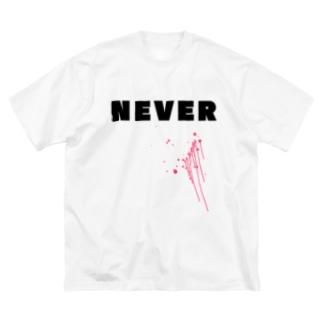 ABE HALUCO - SHOP [No.08]のNEVER(×××ver) Big silhouette T-shirts
