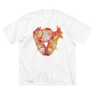 ZUIの死んだ金魚 Big silhouette T-shirts