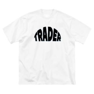 trader トレーダー 株 FX 仮想通貨ビットコイン 投資家 Big silhouette T-shirts
