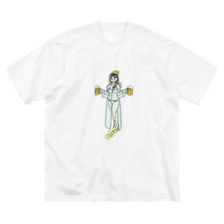 ワンデー・アイデアのコロナビアガーデンガール Big silhouette T-shirts