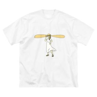 ワンデー・アイデアのソーシャルディスタンス帽子 Big silhouette T-shirts