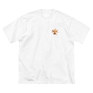 トイプードルスマイル Big silhouette T-shirts