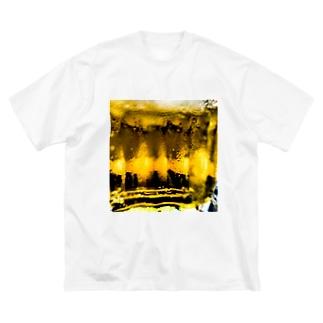 キンッキンに冷えた生ビール Big silhouette T-shirts
