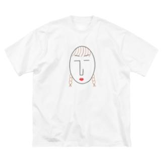 NATSUKO-SHOPのthe face様 (顔) Big silhouette T-shirts