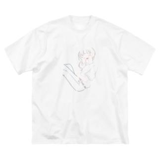 denim girl Big silhouette T-shirts