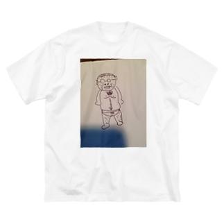 Greenstyleの変態おじさんシリーズ Big silhouette T-shirts