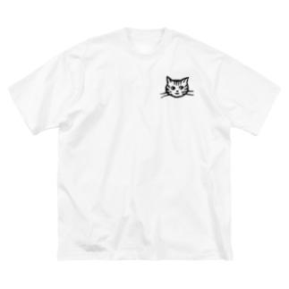 mi. (エムアイドット)のネコのかお Big silhouette T-shirts