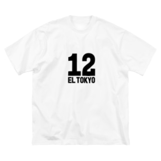 EL TOKYO(黒) Big silhouette T-shirts