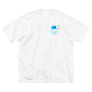 角刈り猫 Big silhouette T-shirts