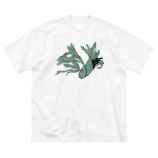 自由に育つビカクシダ Big silhouette T-shirts