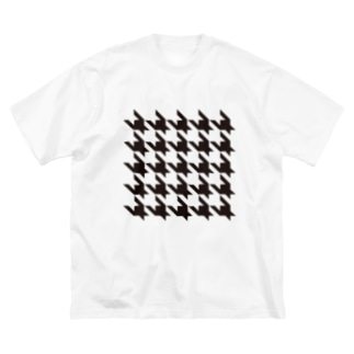 Houndtooth 3 Big silhouette T-shirts