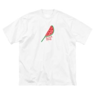 すいか飴☆ Big silhouette T-shirts