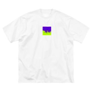 vivid wave Big silhouette T-shirts