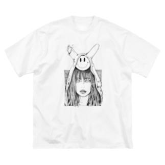 破ける Big silhouette T-shirts