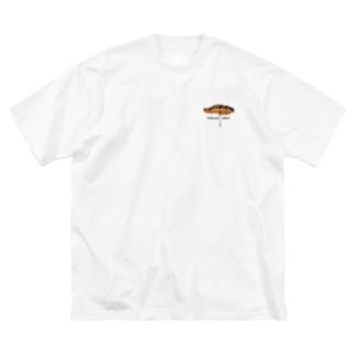 鮭+ロゴ Big silhouette T-shirts