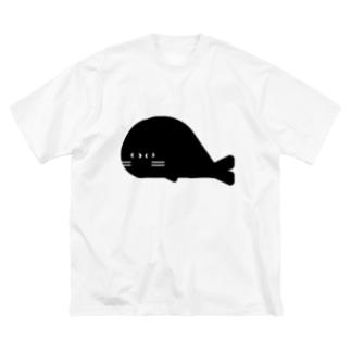 オ ザ むのANIMALシリーズ あざらし Big silhouette T-shirts