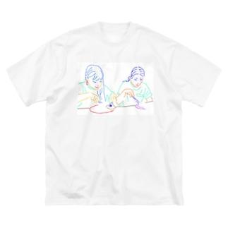 バンサクのバーガーバーガー Big silhouette T-shirts