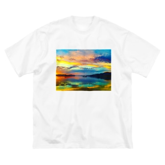 mizuphoto.comの夢色パレット Big silhouette T-shirts
