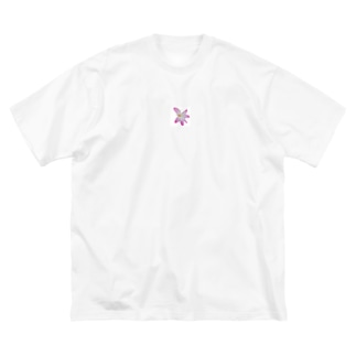 cheap sheep.のお花(ピンク) Big silhouette T-shirts