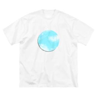 快晴な近い空。 Big silhouette T-shirts