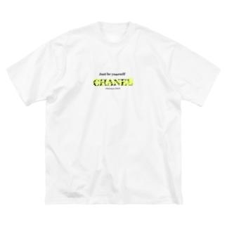 脱ブランド。 Big silhouette T-shirts