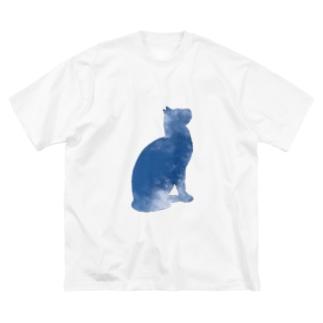 空猫シリーズ Big silhouette T-shirts