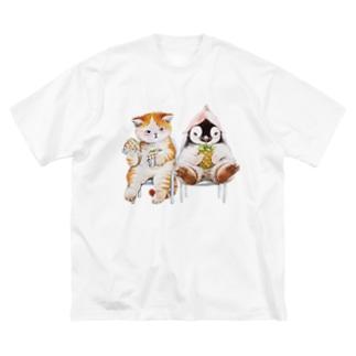 まなつ&まふゆのうーん… Big silhouette T-shirts