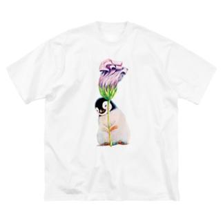 まなつ&まふゆの花が好き Big silhouette T-shirts