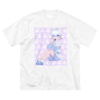 宇宙人くん Big silhouette T-shirts