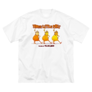 The World of YELLOW JUNKIEのYELLOW JUNKIE 「3匹のデブ」 Big silhouette T-shirts