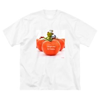 y's papa ハッピーフロッグ Big silhouette T-shirts