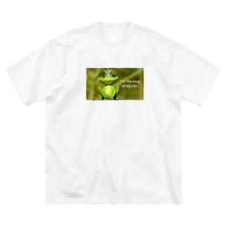 y's papa ハッピーフロッグ2 Big silhouette T-shirts