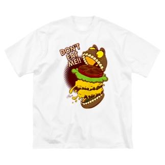 The World of YELLOW JUNKIEのYELLOW JUNKIE 「食わないでくれ」 Big silhouette T-shirts