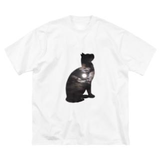空猫シリーズ(月) Big silhouette T-shirts