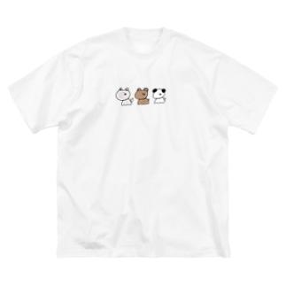 好きなもの倶楽部のなかまたち Big silhouette T-shirts