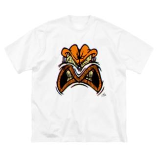 YELLOW JUNKIE 「怒ったご尊顔」 Big silhouette T-shirts