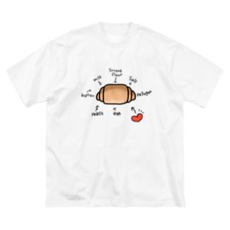 ロールパンの材料 Big silhouette T-shirts