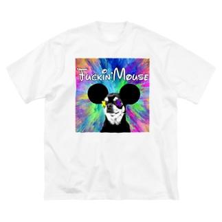 ZEN 『ファッキンマウス』 Big silhouette T-shirts
