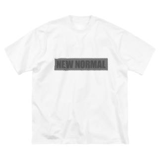 離れると読めるTシャツ/NEW NORMAL<淡色用> Big silhouette T-shirts