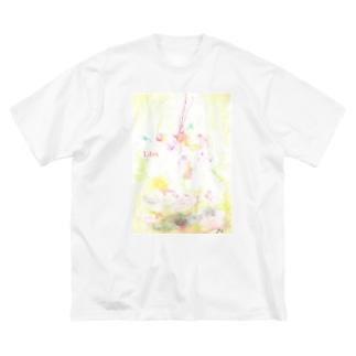 天秤ビックTシャツ Big silhouette T-shirts