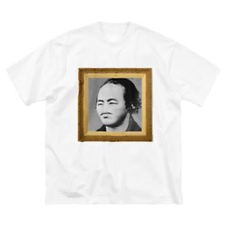 うざい顔の偉人シリーズ vol.3 坂本龍馬 Big silhouette T-shirts