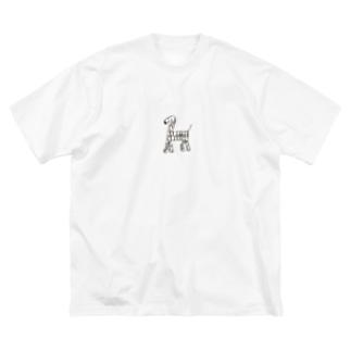 しょうこちゃんの本気/シマウマ Big silhouette T-shirts