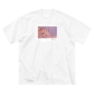 H@ro.うさぎ Big silhouette T-shirts