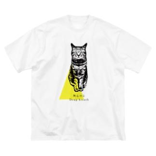 『無心の心』猫と一緒に瞑想時間 Big silhouette T-shirts