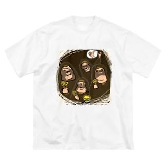 それいいね!モンキーズ Big silhouette T-shirts