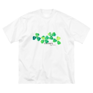 clovers. Big silhouette T-shirts